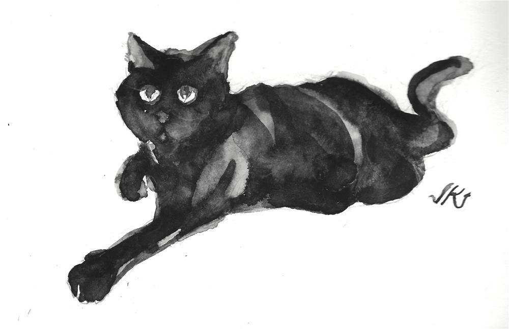 """Daily Cat 109"" original fine art by Jean Krueger"