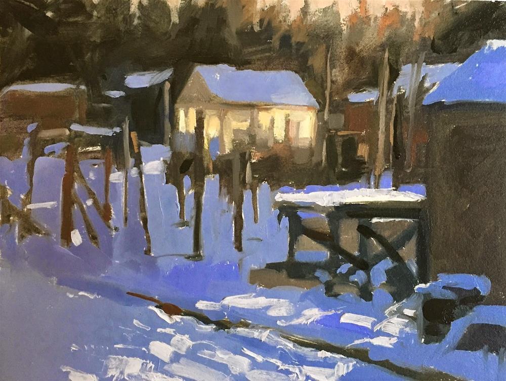 """Snow glow"" original fine art by Haidee-Jo Summers ROI"