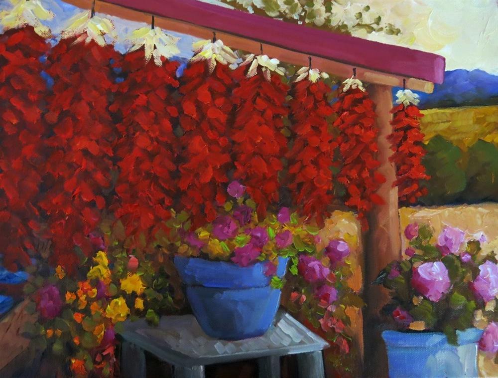 """IN THE RED"" original fine art by Dee Sanchez"