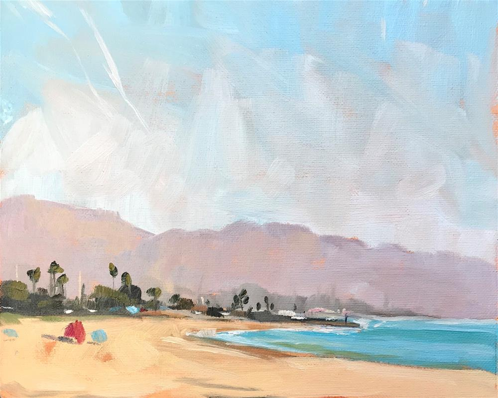 """Santa Barbara Beach, Plein Air"" original fine art by Sharon Schock"