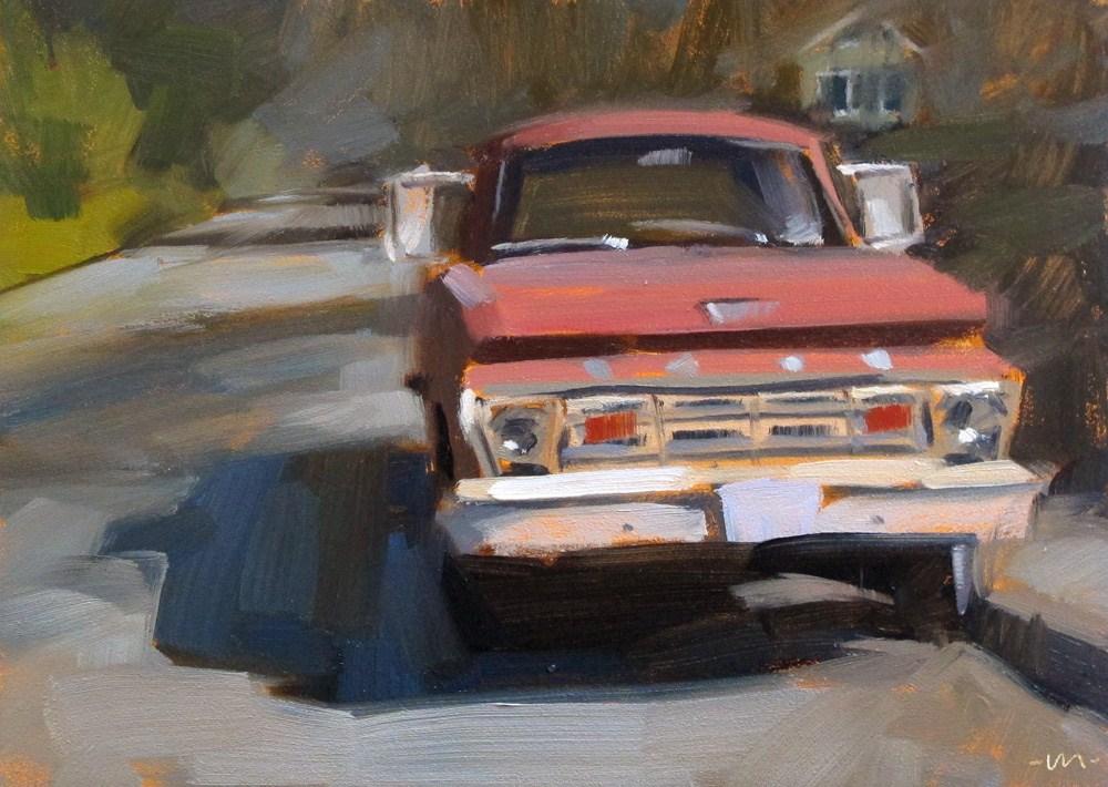 """Ford on Filmore St."" original fine art by Carol Marine"