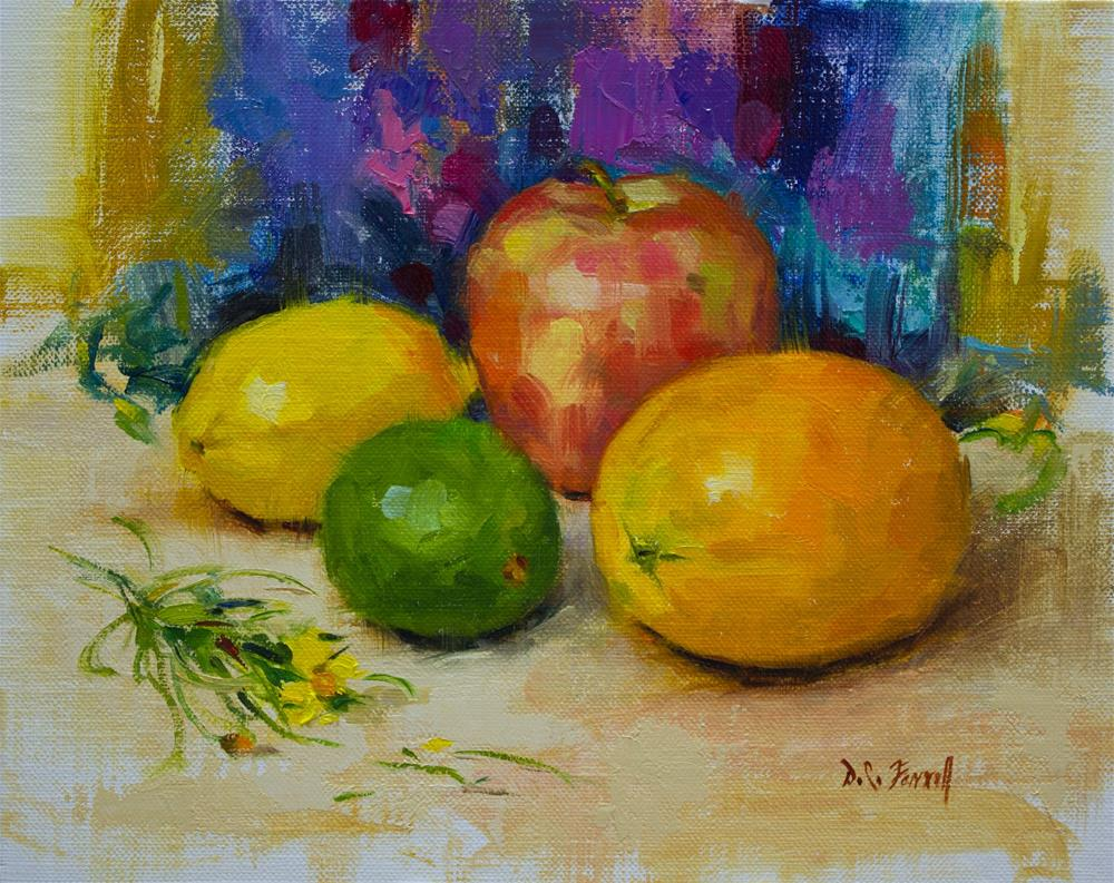 """Mixed Fruit"" original fine art by Donna C Farrell"