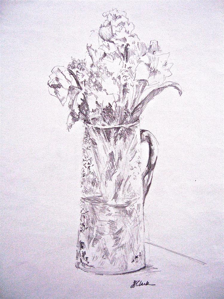 """Cut Glass Vase, study"" original fine art by Judith Freeman Clark"