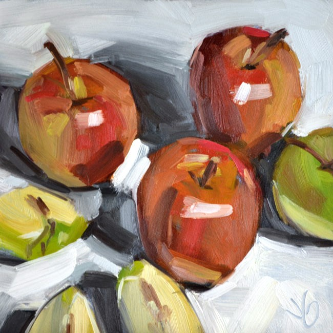 """Apples"" original fine art by Jessica Green"
