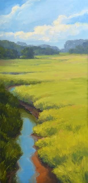 """Marshland Creek and End of Show!"" original fine art by Laurel Daniel"
