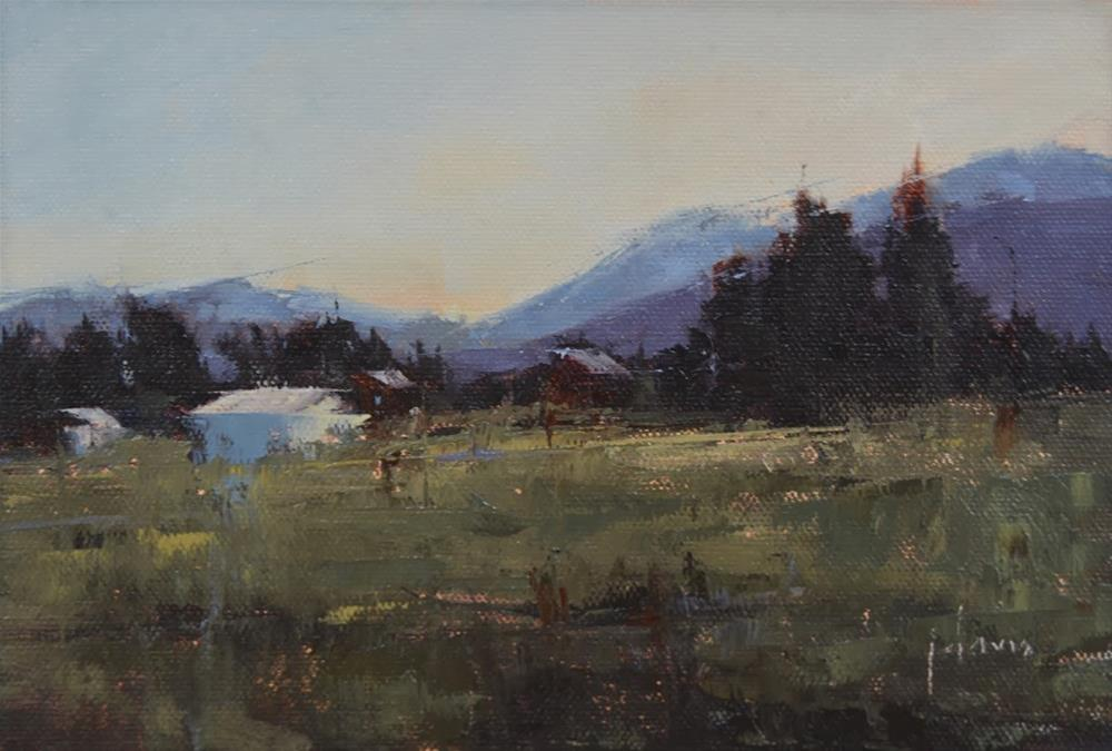 """Family Farm"" original fine art by Julie Davis"
