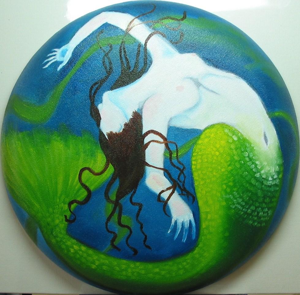 """Mermaid"" original fine art by Patricia Murray"