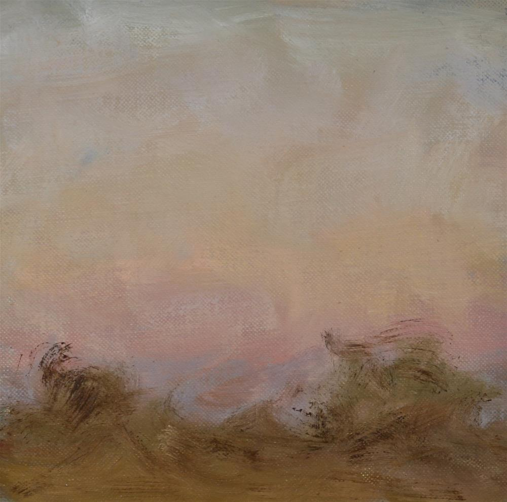 """Winter Sunset 09"" original fine art by Scott Serafica"
