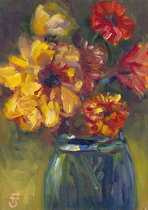 """Comfort Bouquet"" original fine art by Francine Dufour~Jones"