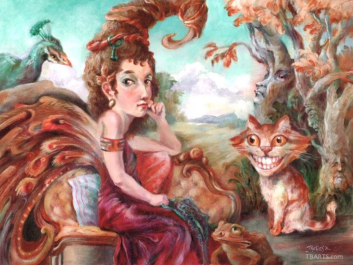 """Fairy & Friends"" original fine art by Theresa Taylor Bayer"