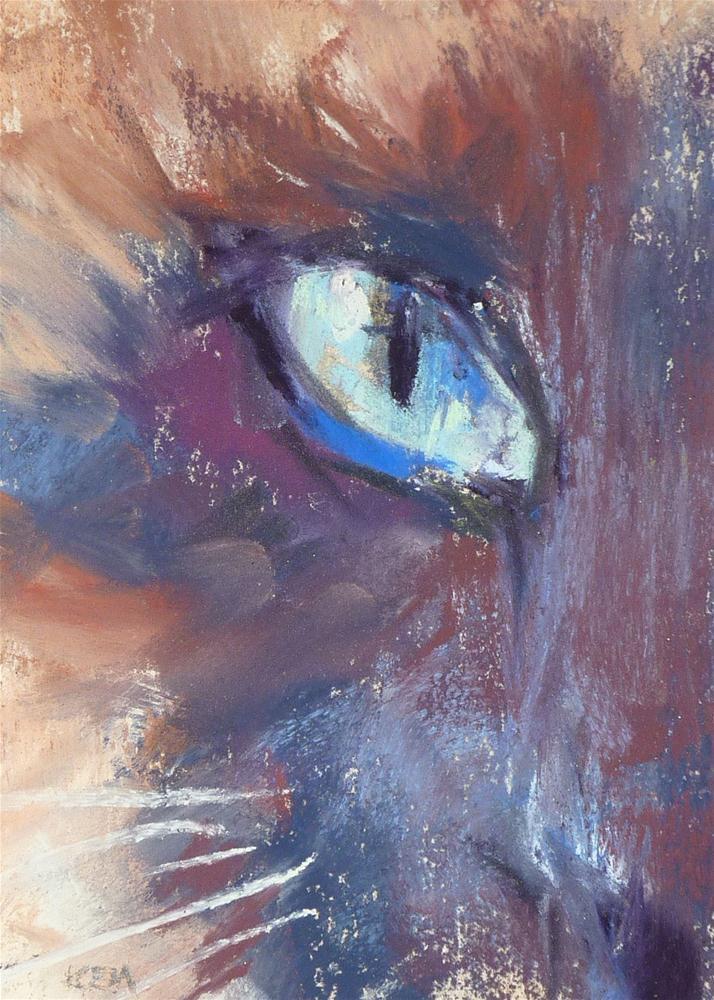 """Ole Blue Eyes"" original fine art by Karen Margulis"