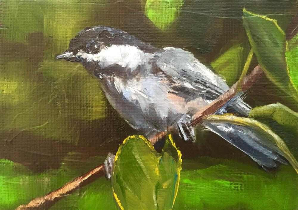 """Summer Chickadee"" original fine art by Gary Bruton"