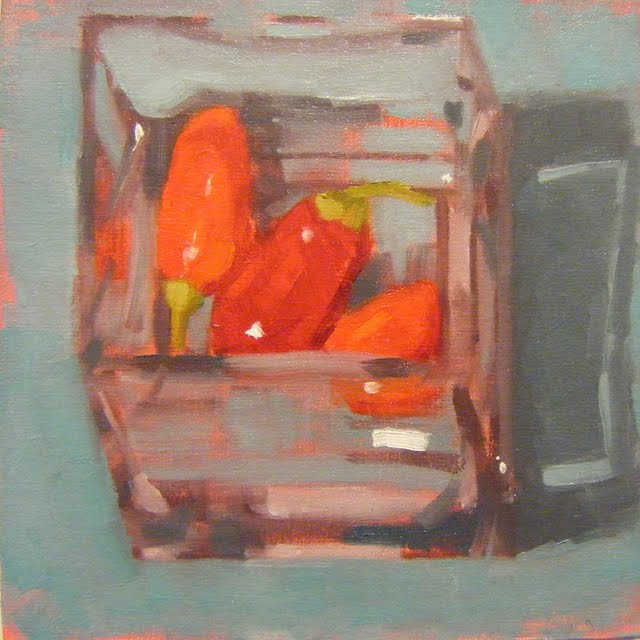 """PEPPERS DOWNUNDER"" original fine art by Helen Cooper"