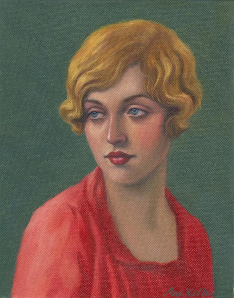 """Portrait of a Blonde Flapper"" original fine art by Pat Kelley"