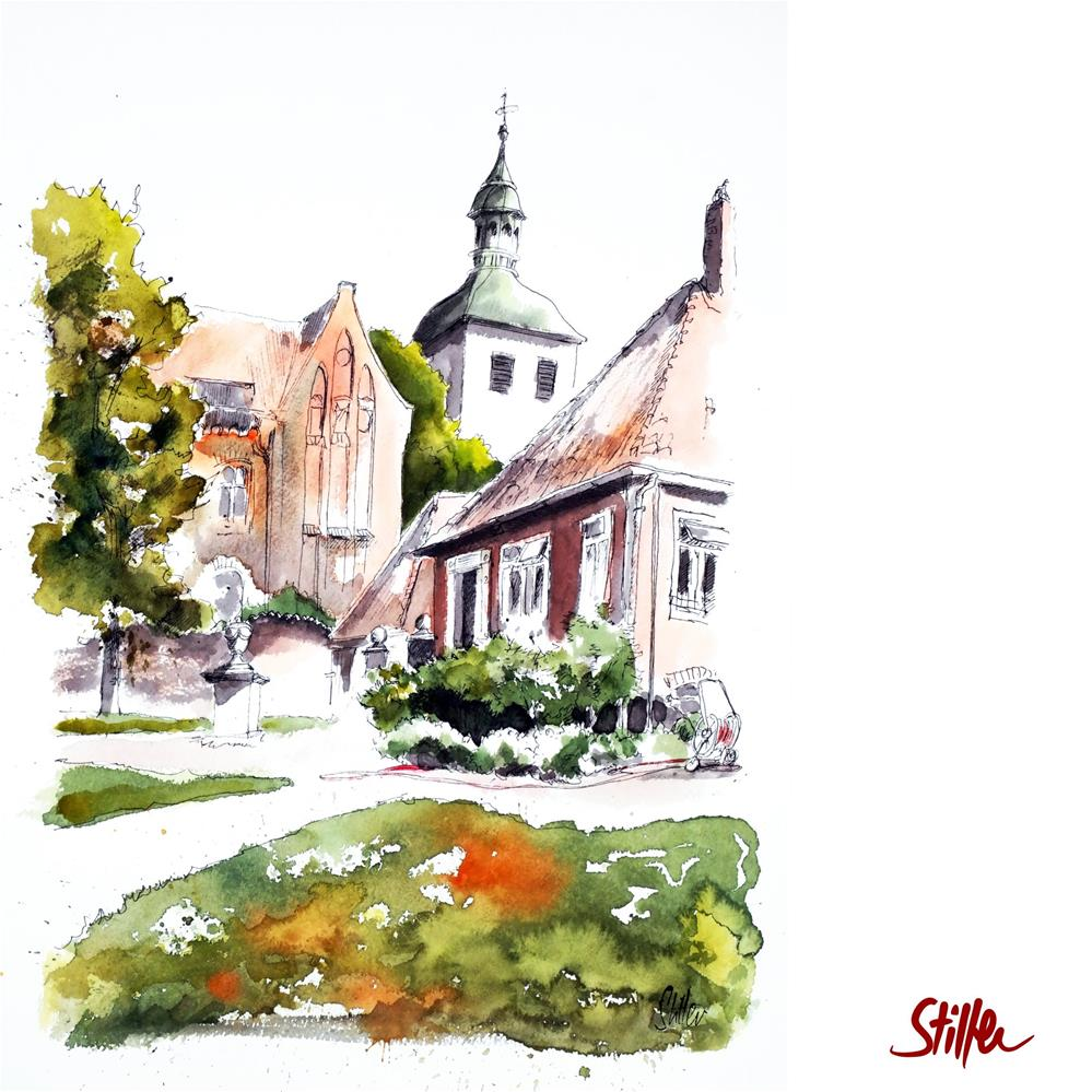 """""""3621 Walsrode Monastery"""" original fine art by Dietmar Stiller"""