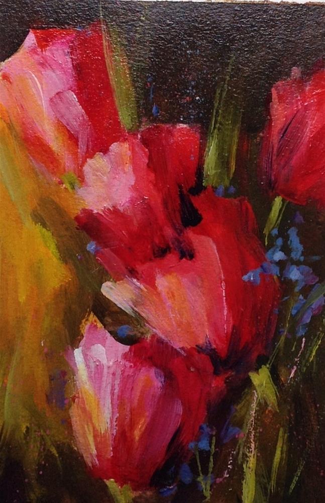 """Original tulip,flower floral garden landscape"" original fine art by Alice Harpel"