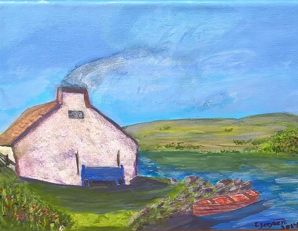"""A irish cottage"" original fine art by Cindy Jensen"