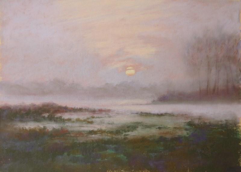 """Mist on the Marshes"" original fine art by Ruth Mann"