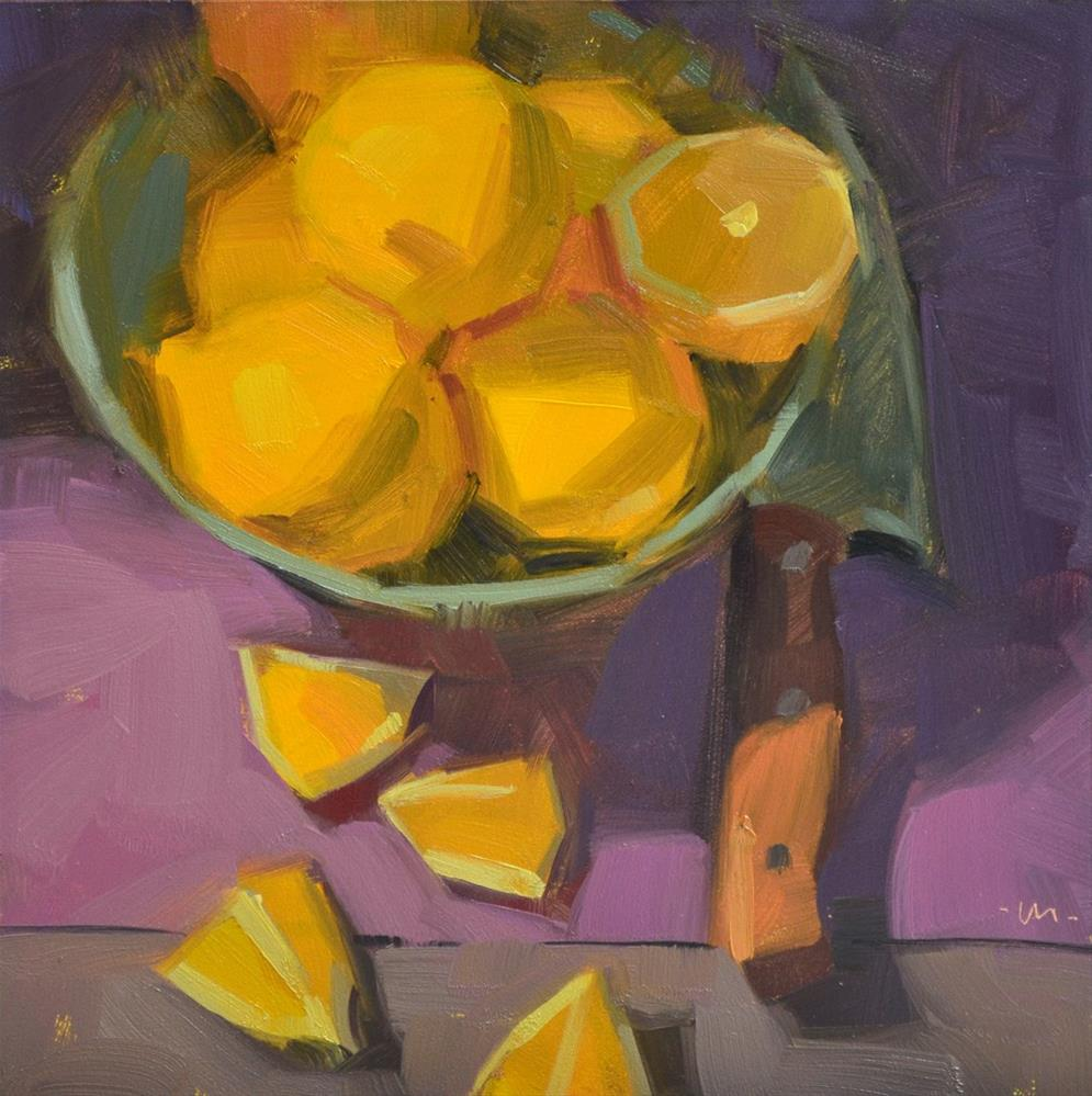 """Cut Up Into Bits"" original fine art by Carol Marine"