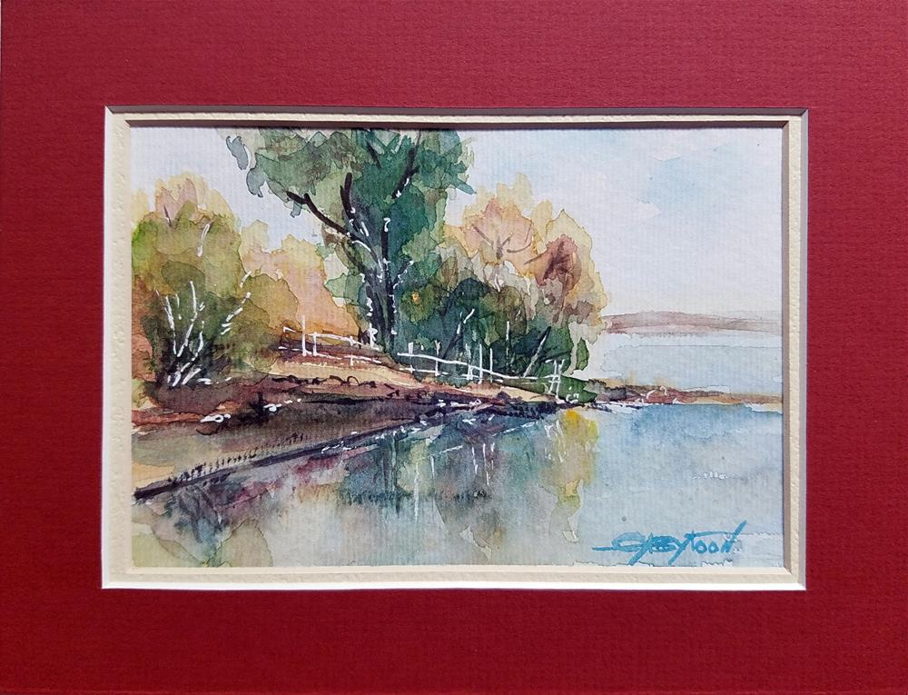 """Landscape Sketch"" original fine art by Gabriella DeLamater"