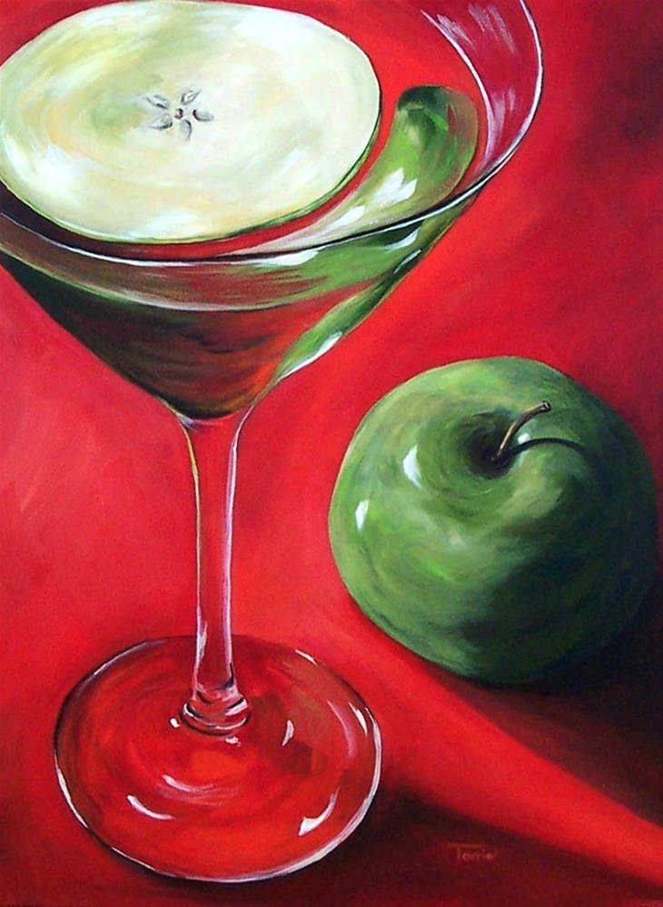 """Green Apple Martini"" original fine art by Torrie Smiley"
