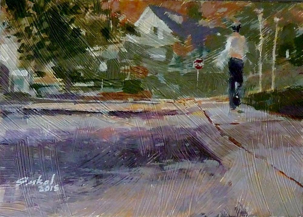 """""""Walking on Sunshine"""" original fine art by Ron Ferkol"""