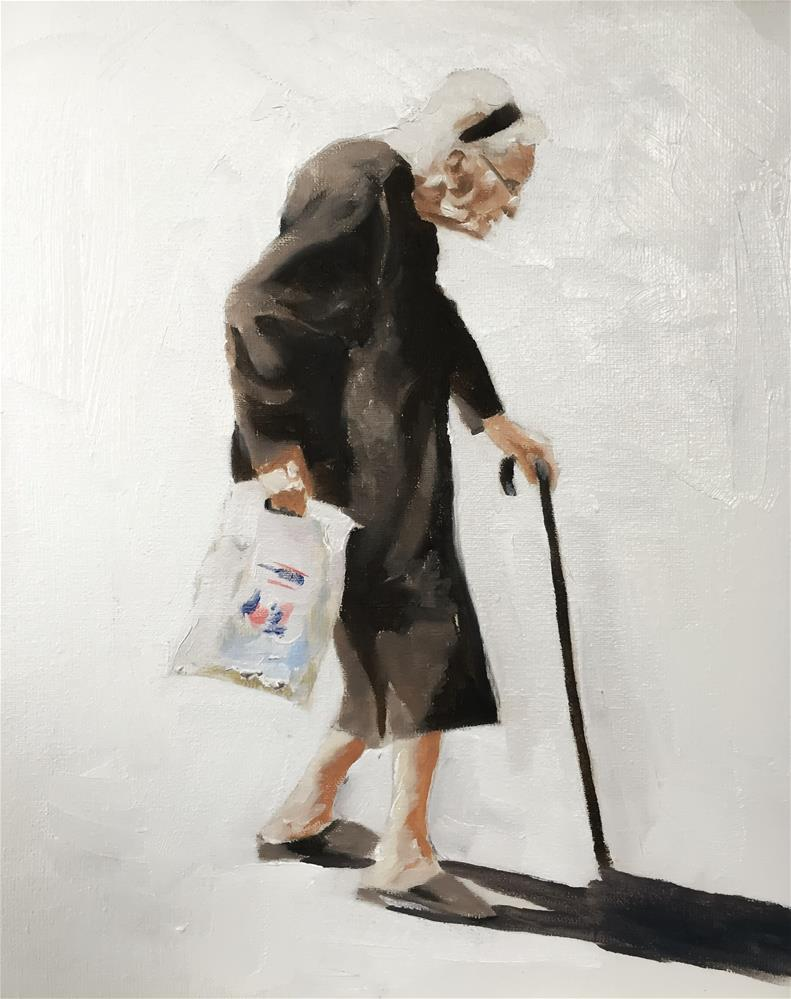 """Shopping"" original fine art by James Coates"