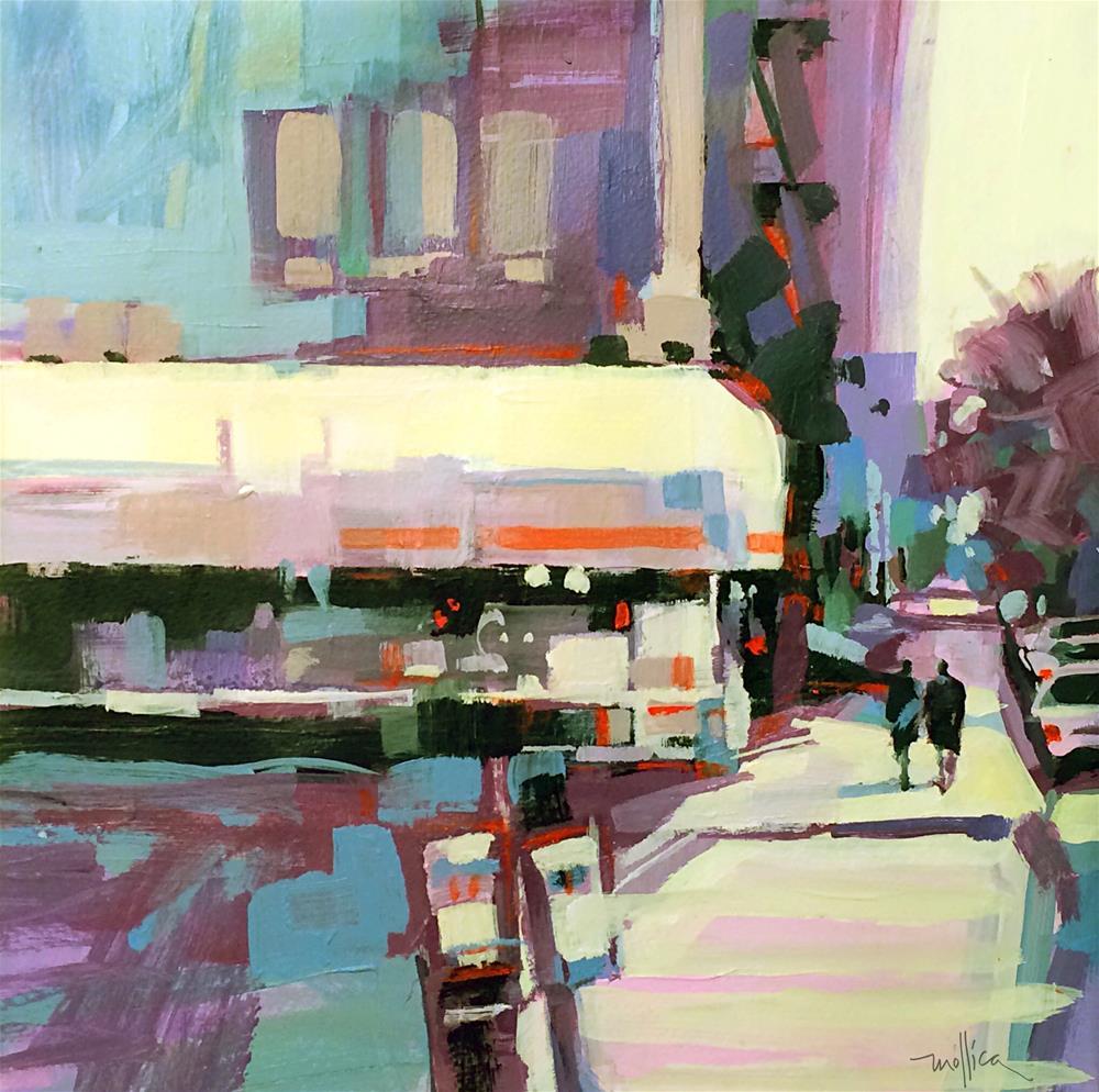 """Upper West Side Corner"" original fine art by Patti Mollica"