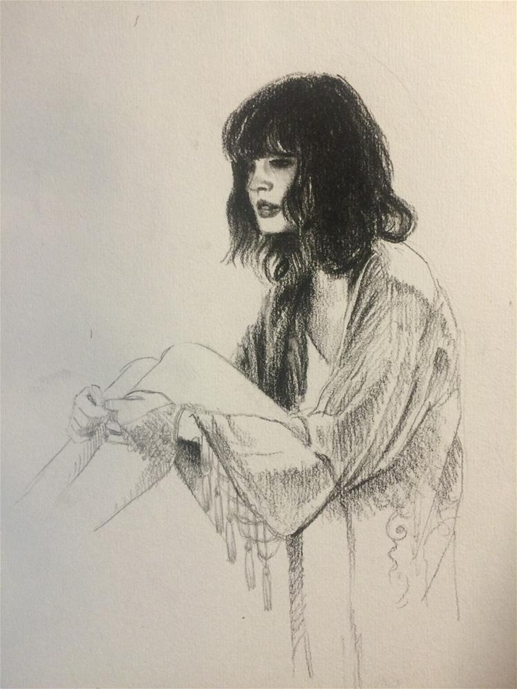 """Sunday Sketch"" original fine art by Paulo Jimenez"