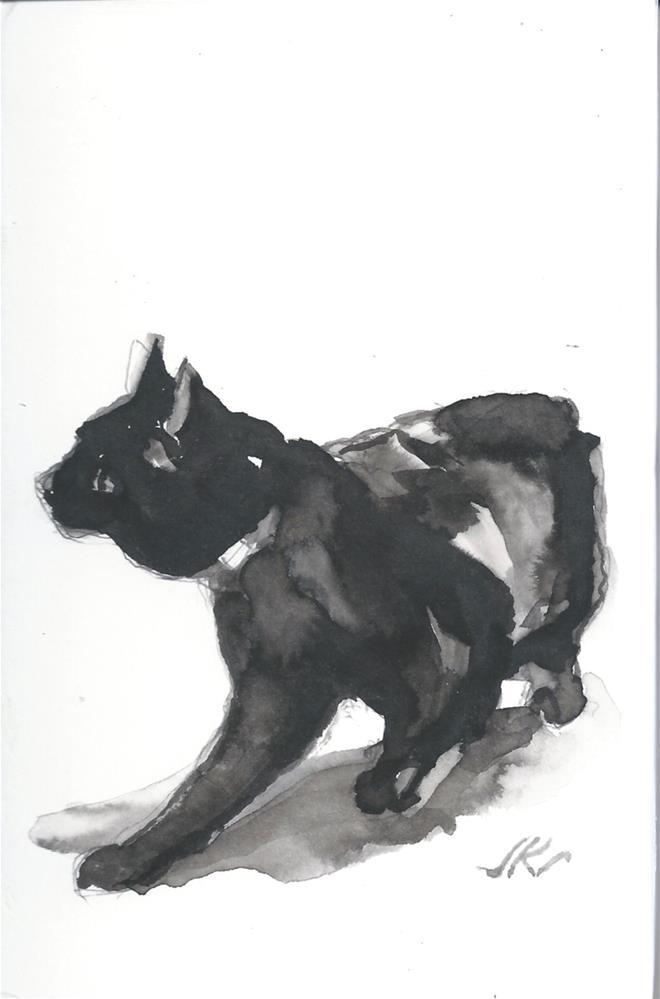 """Daily Cat 176"" original fine art by Jean Krueger"