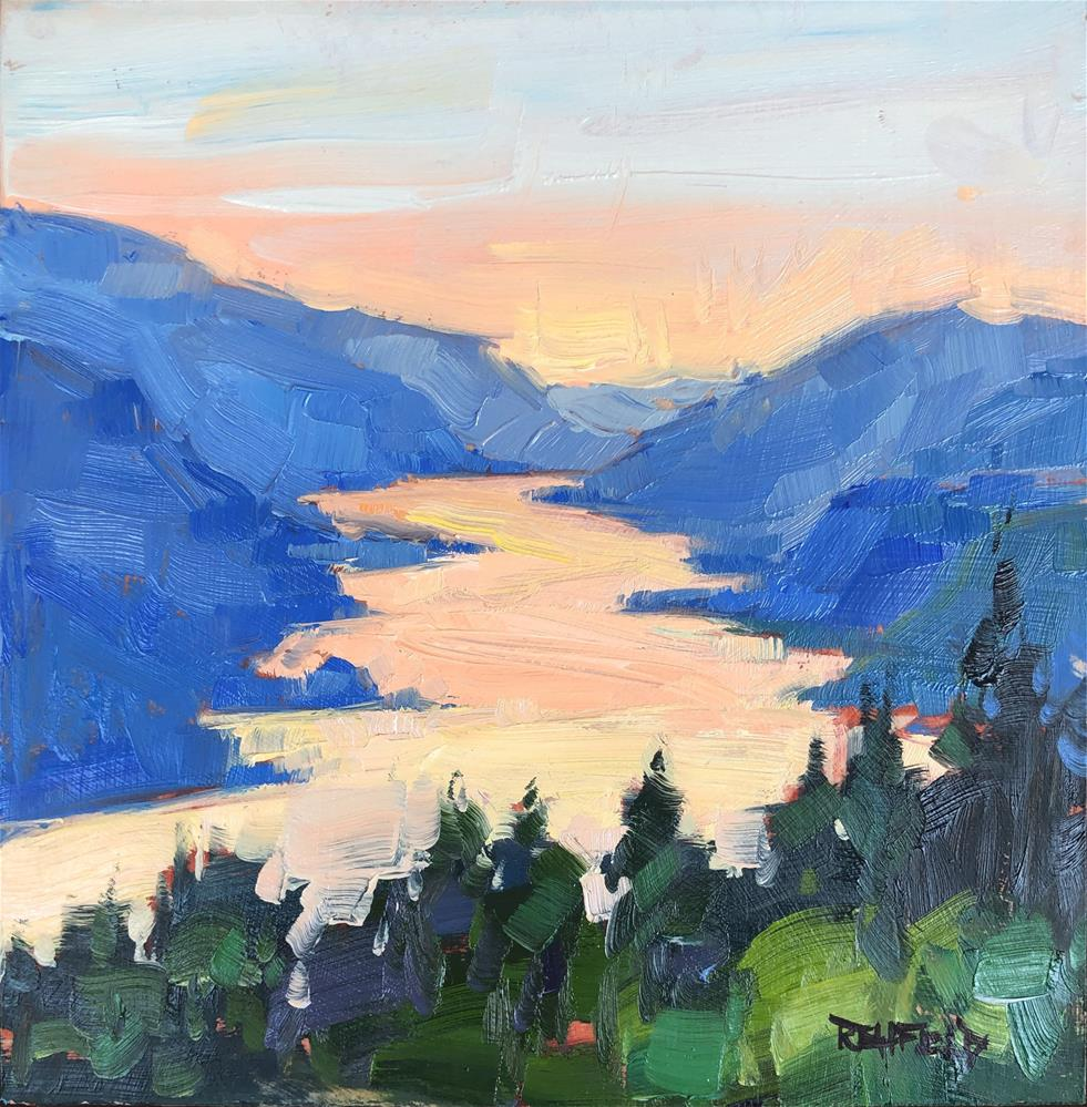 """""""The Gorgeous View"""" original fine art by Cathleen Rehfeld"""