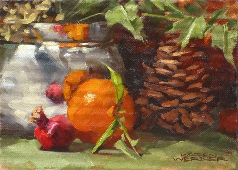 """""""Winter Postcard"""" original fine art by Karen Werner"""