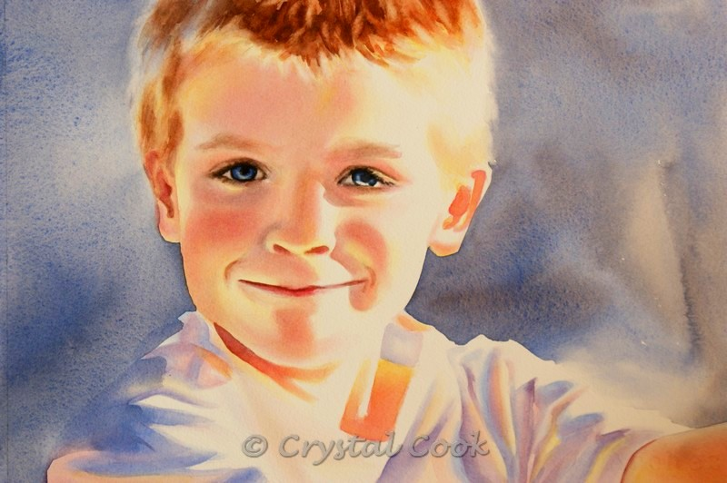 """My Light"" original fine art by Crystal Cook"