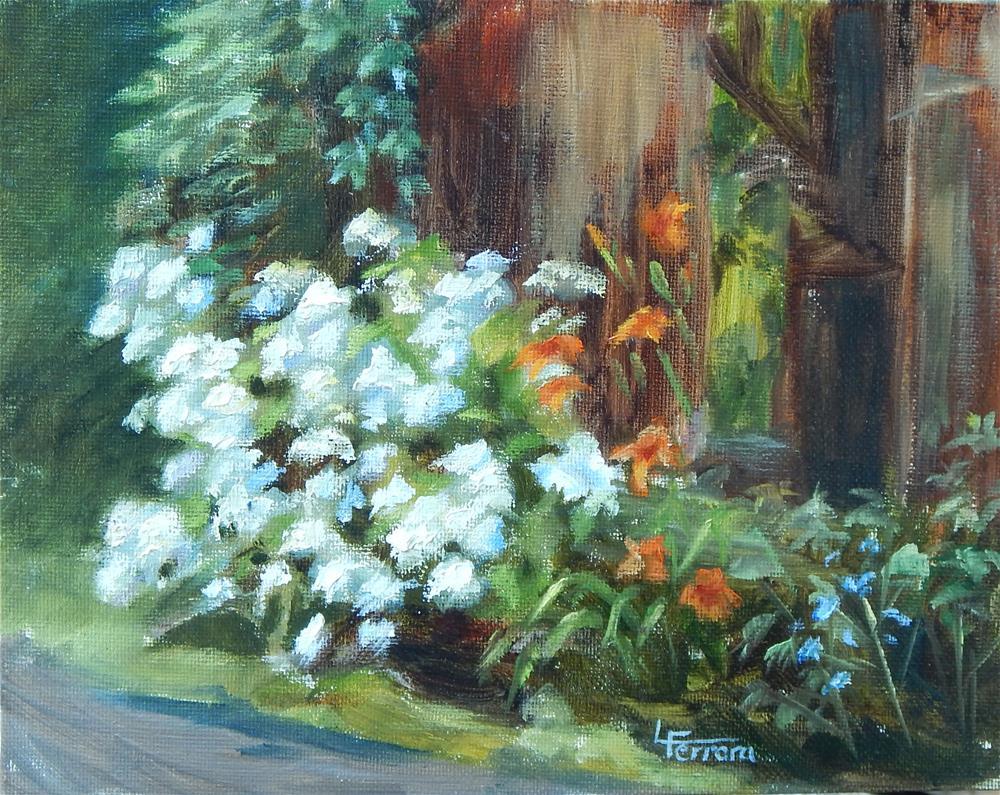 """""""Wild Goose Farm Flowers"""" original fine art by Lina Ferrara"""