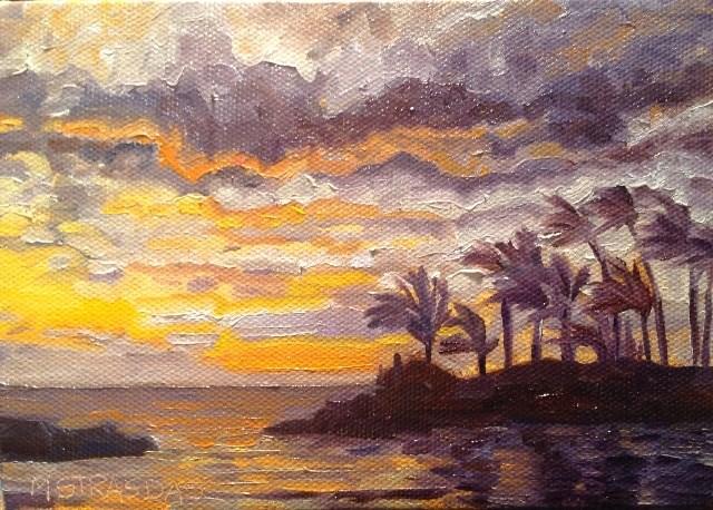 """Sunset in Ko Olina"" original fine art by Marcela Strasdas"