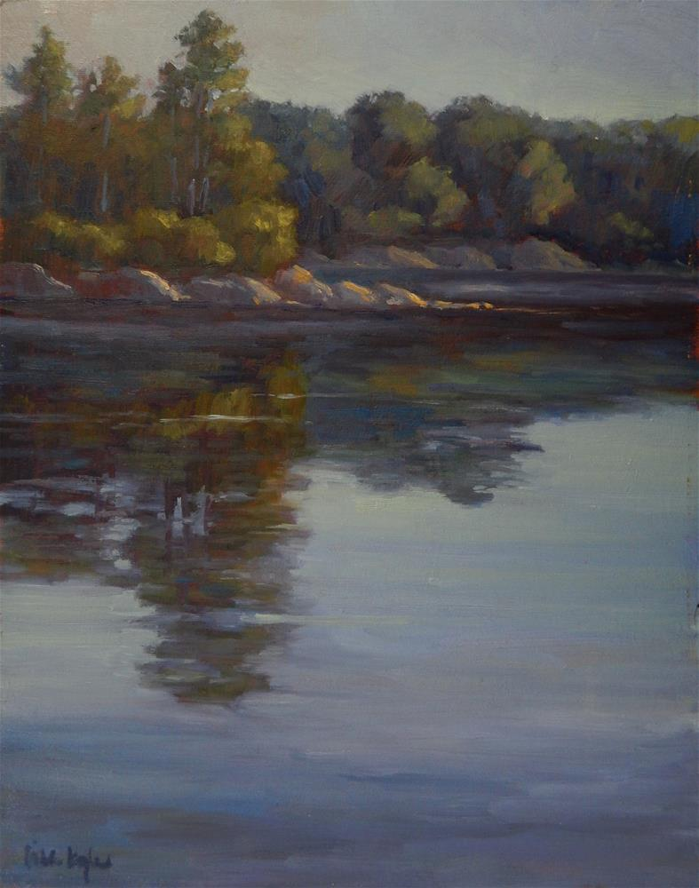 """""""Morning at the Cove"""" original fine art by Lisa Kyle"""