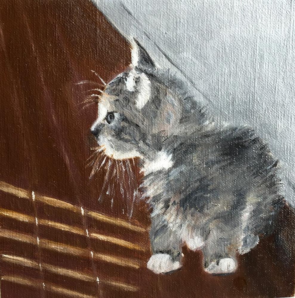 """Shan's Kitty"" original fine art by Dicksie McDaniel"