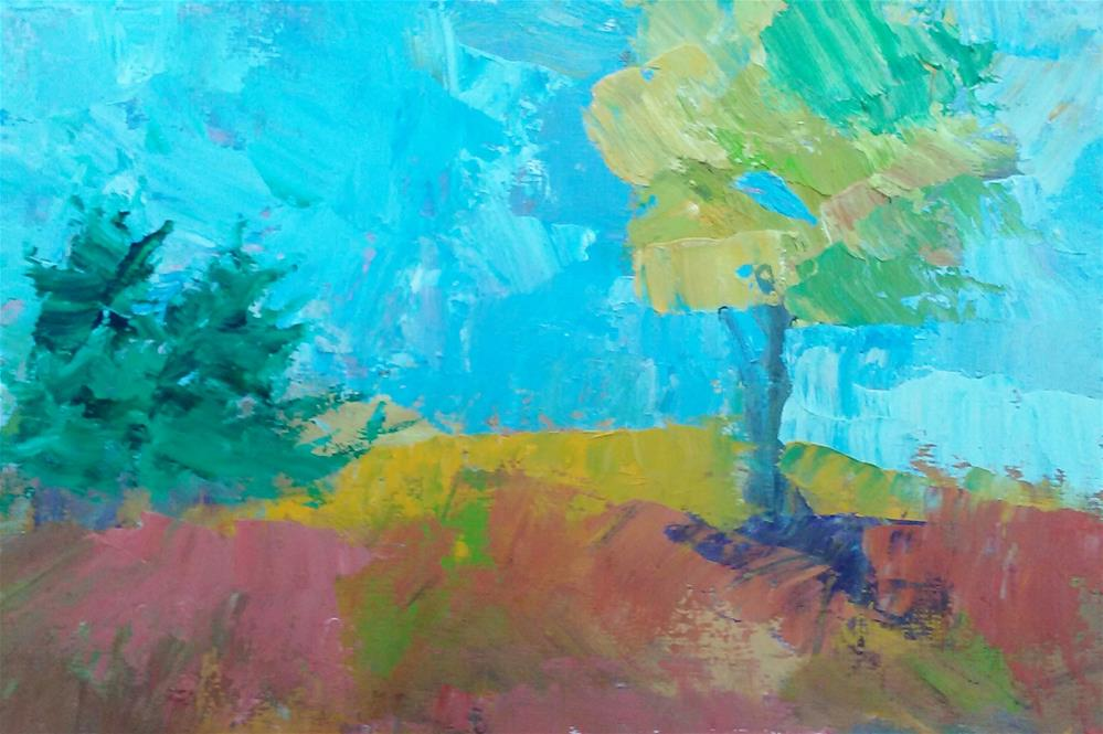 """Abstract Landscape"" original fine art by Gerri Obrecht"