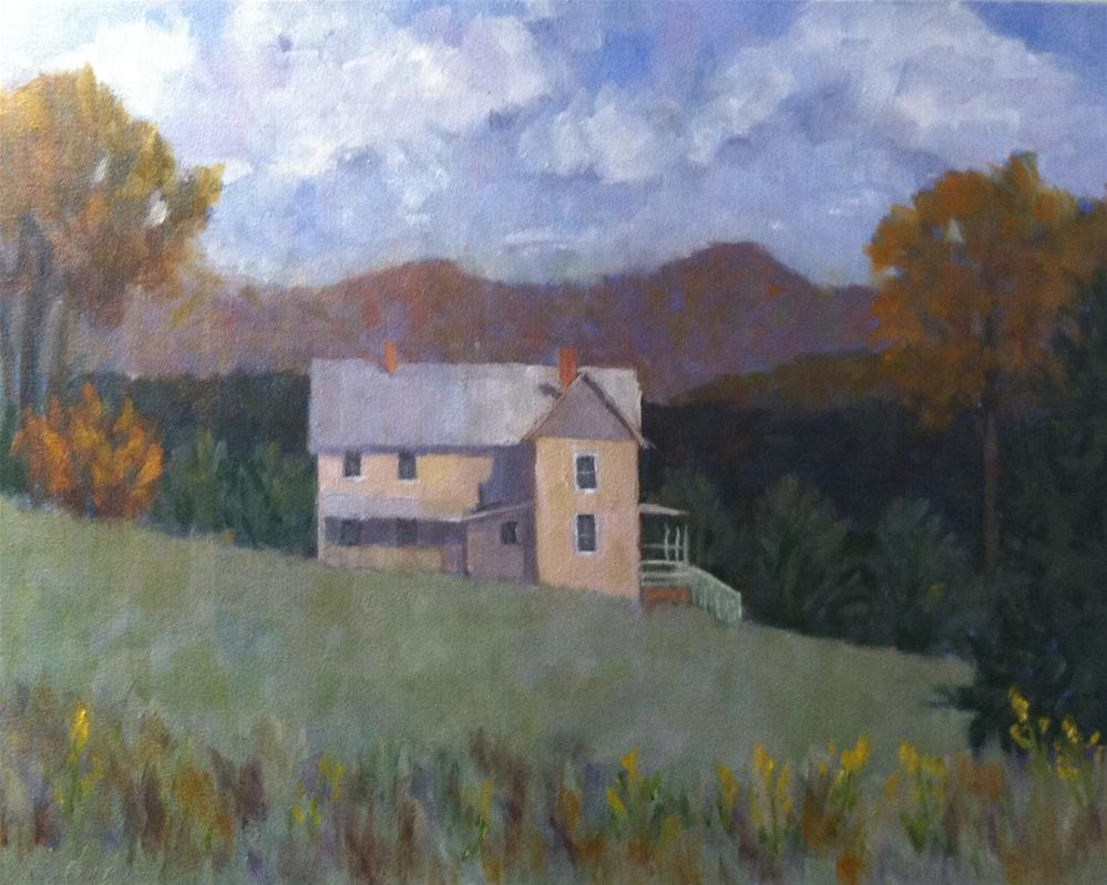"""""""Autumn View from the Vineyard"""" original fine art by Katharine March"""