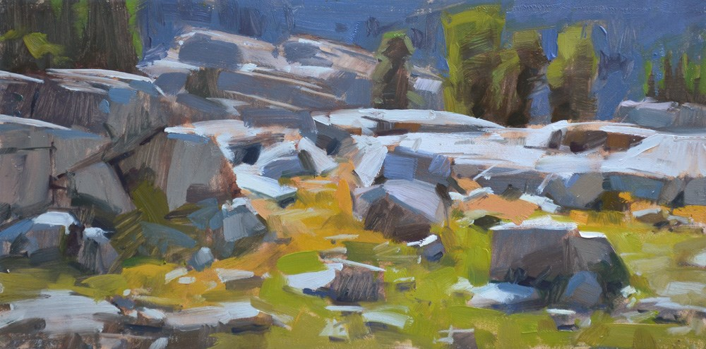 """Rock Blocks"" original fine art by Carol Marine"