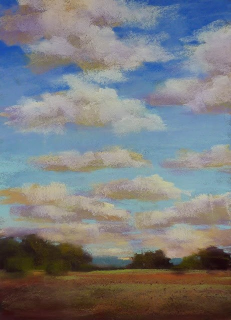 """How to Paint Better Clouds"" original fine art by Karen Margulis"