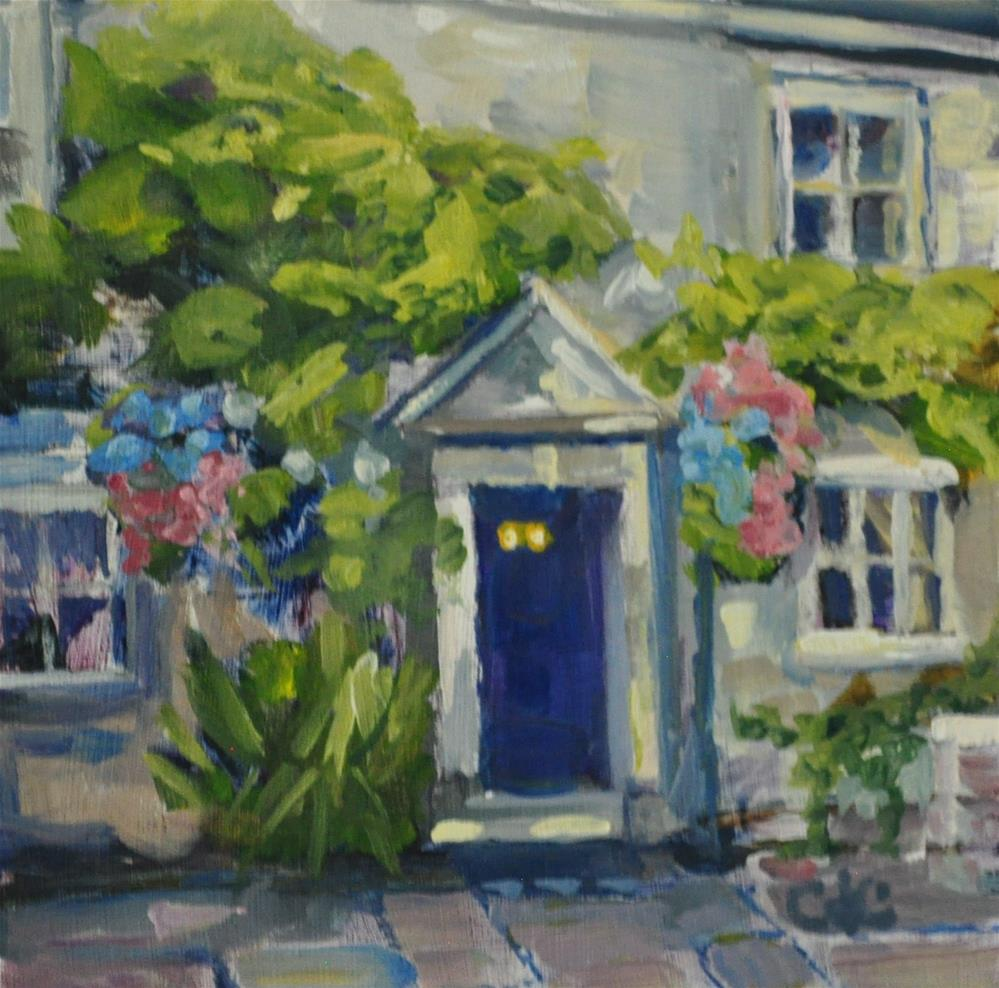 """Hanging Baskets"" original fine art by Catherine Crookston"