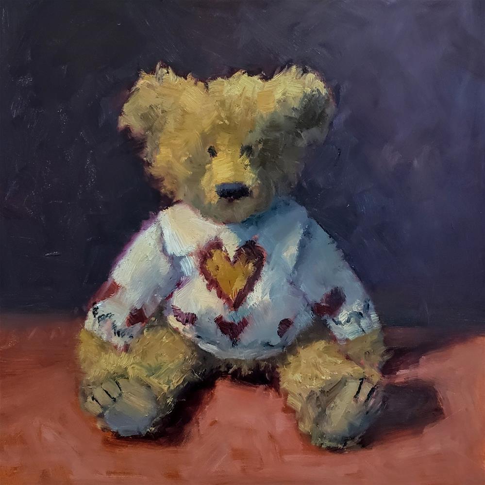 """Valentine Bear"" original fine art by Barbie Smith"