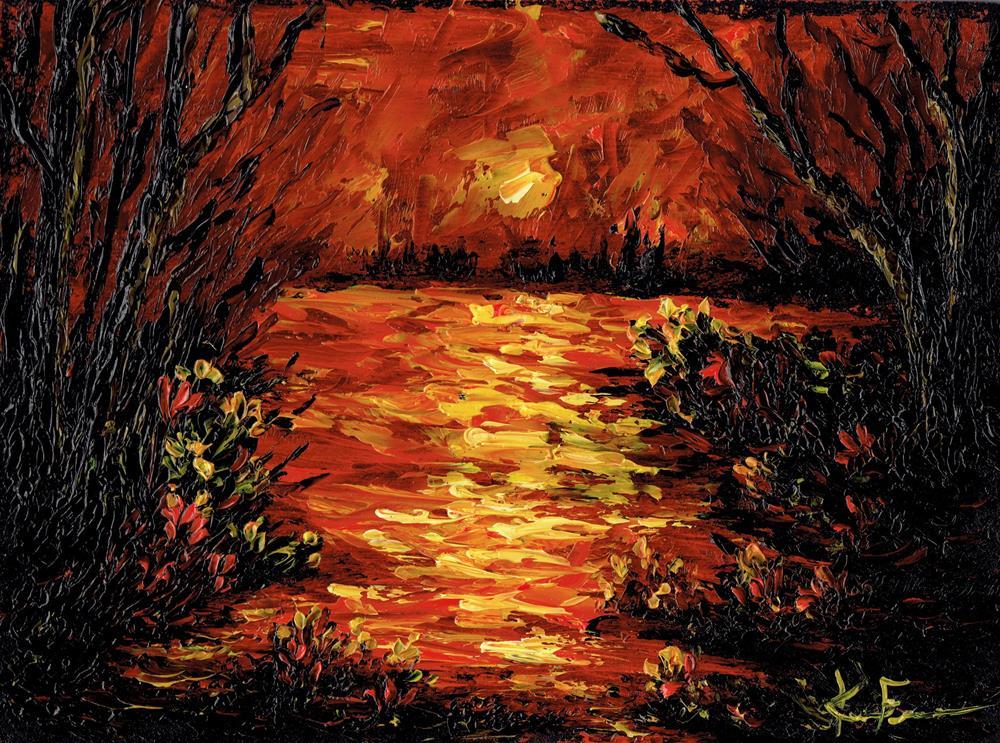"""The Cove"" original fine art by Ken Fraser"