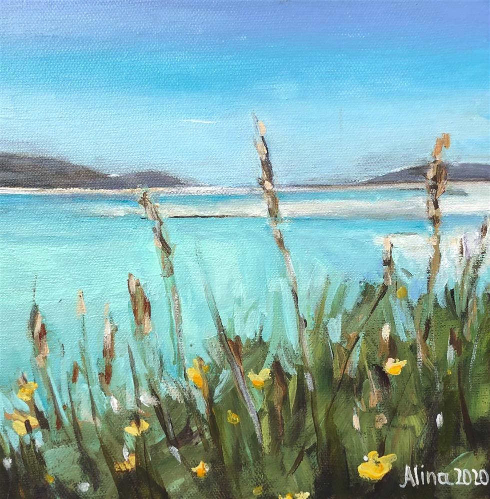 """""""Isle Of Harris Beach"""" original fine art by Alina Vidulescu"""