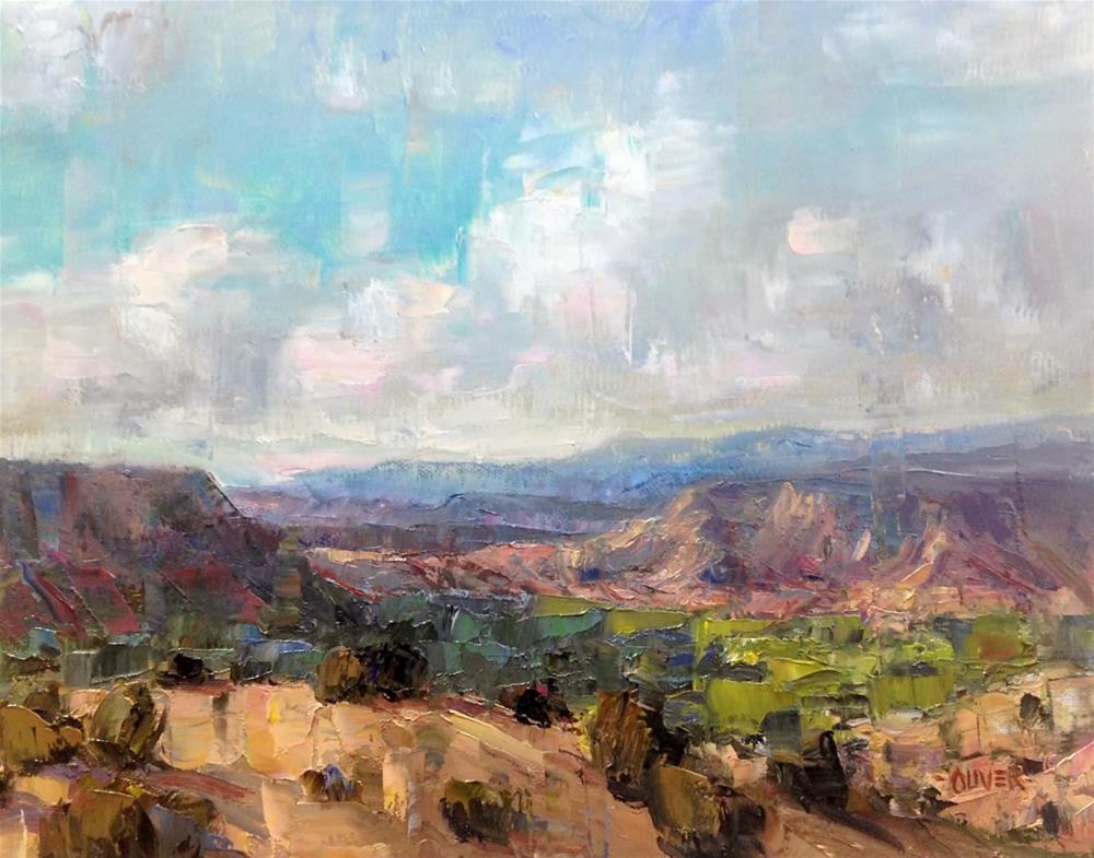 """New Mexico Vista"" original fine art by Julie Ford Oliver"