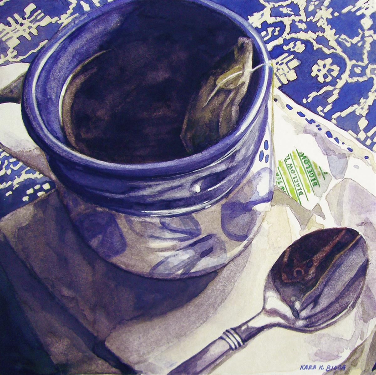 """Morning Tea"" original fine art by Kara K. Bigda"