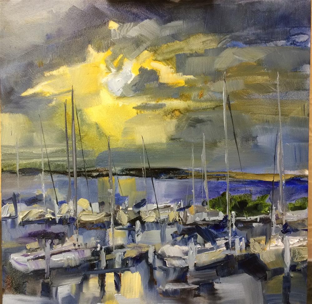 """Punta Gorda Sunset"" original fine art by Diane Plaisted"