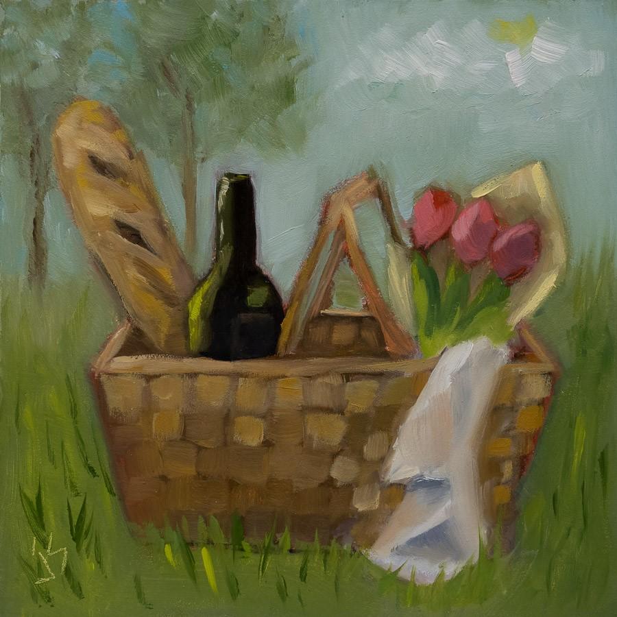 """Perfect Picnic"" original fine art by Johnna Schelling"