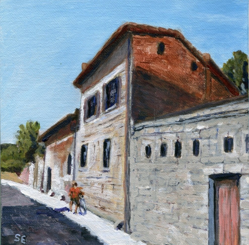 """""""The Appian Way, Rome"""" original fine art by Stanley Epperson"""